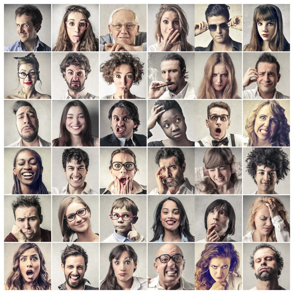 a grid of people's faces, of all different kinds