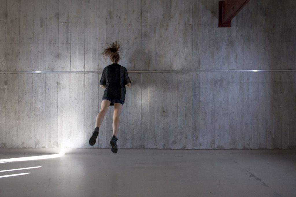 Movement-against-concrete-wall